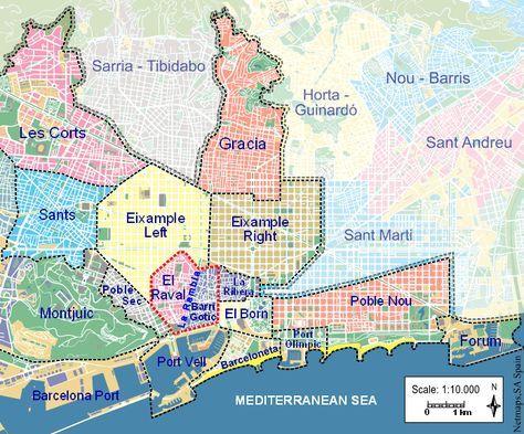 Barcelona Neighborhood Map Pin by Maria Osorio on Next destination in 2019 | Barcelona  Barcelona Neighborhood Map