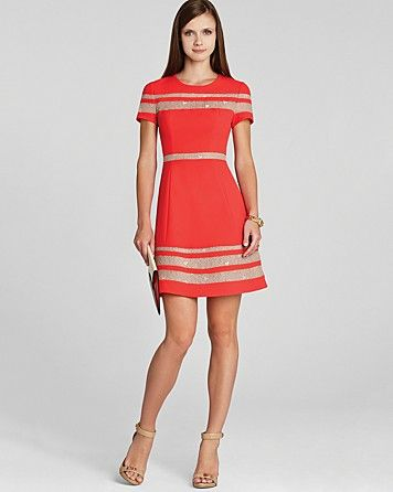 042164d3d29e7 BCBGMAXAZRIA Dress - Kalli Lace Inset