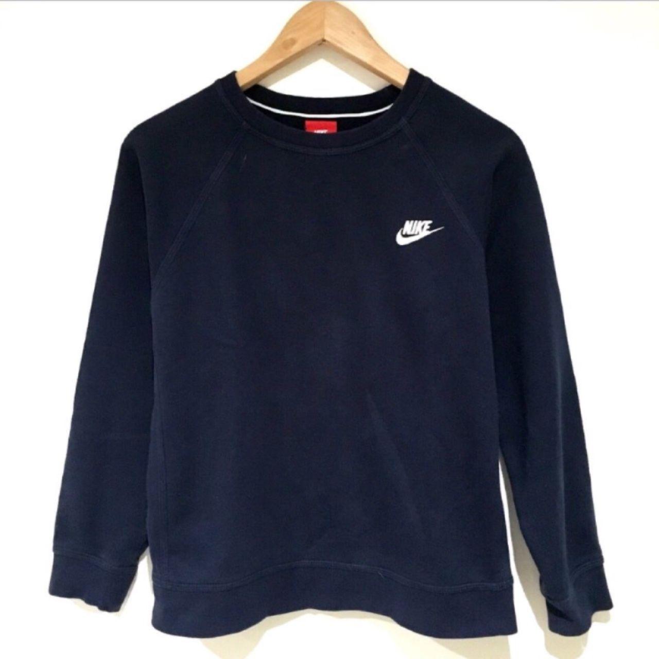 9ec44c03 Nike sweatshirt jumper, navy, boys XL. MEASUREMENTS: pit to pit 20.5