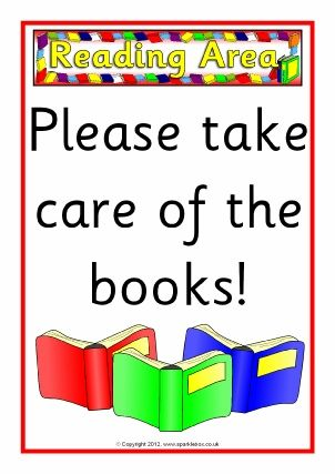 A Set Of Posters To Display In Your Classroom Reading Area Description From Sparklebox Co Uk Classroom Signs Reading Corner Classroom Classroom Reading Area