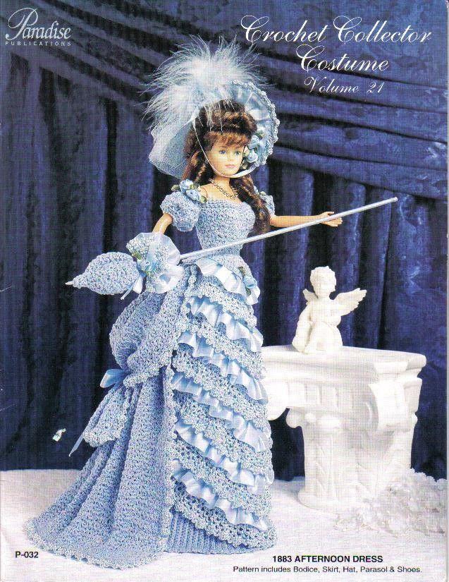 Crochet Collector Costume Pattern Victorian Era Fits 11 1/2 Fashion ...