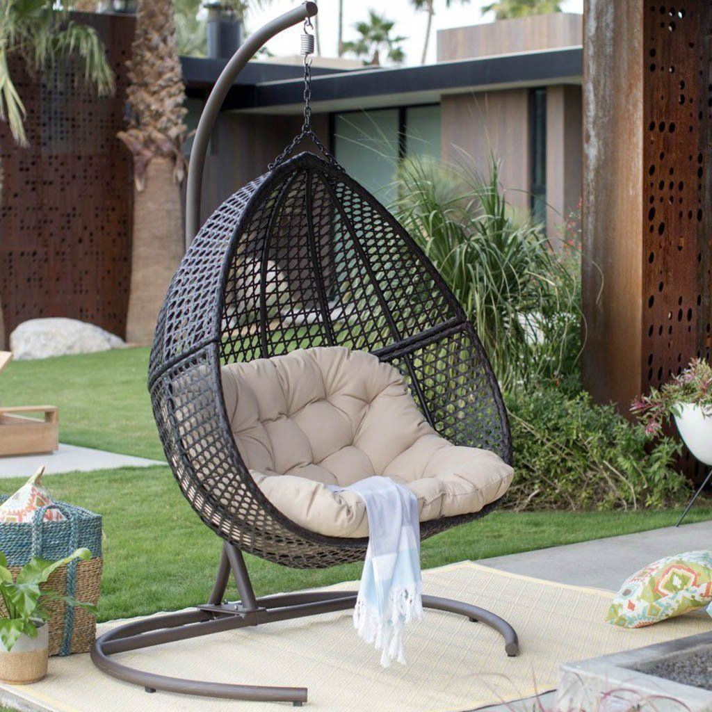 Hanging Egg Chair Loveseat For Luxury Outdoor Patios Hanging Egg