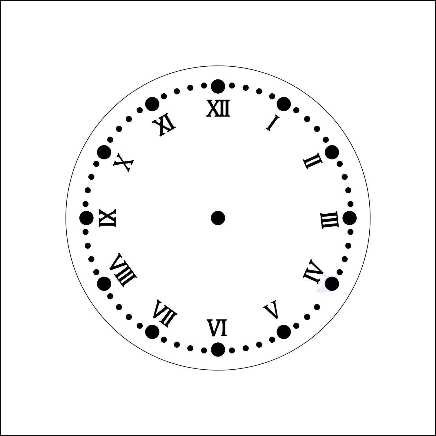Wood Clock Numbers 1 2 3 4 5 Inch Roman Clock Numbers Choose Size - 3-roman-numerals-clocks