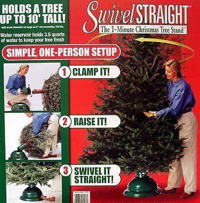 Swivel Straight 1-Minute Christmas Tree Stand - For Real Trees Up To 10'  Dyno - Swivel Straight 1-Minute Christmas Tree Stand - For Real Trees Up To