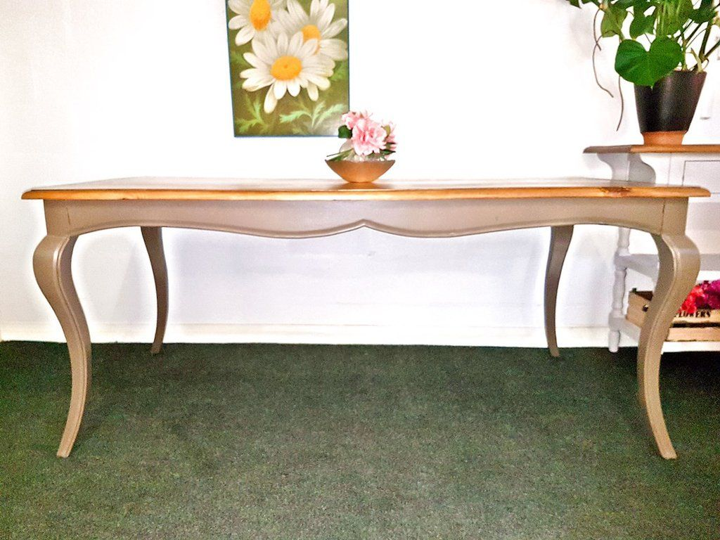 Amelie Beautiful Dark Olive 180cm French Style Dining Table