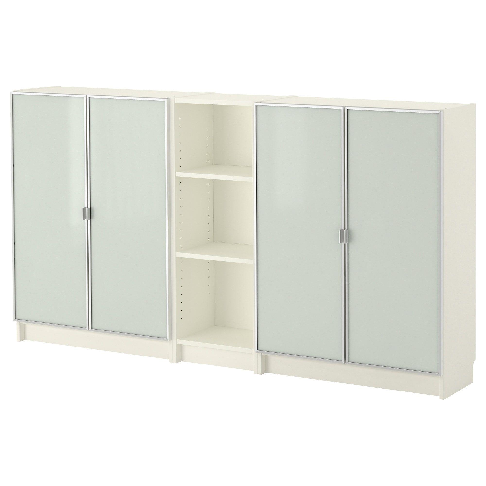 Billy Morliden Bookcase White Glass Shelves Shelves Glass