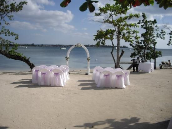 Weeding Arches Set Up Our Wedding Arch Picture Of Clubhotel Riu Negril
