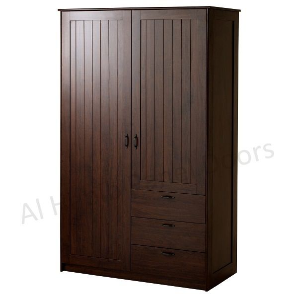 Stand Alone Wardrobe Designs : Router design two doors wardrobe hpd free standing wardrobes