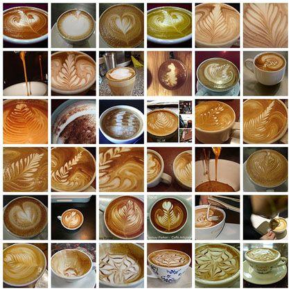 Latte Art ~ a different medium.