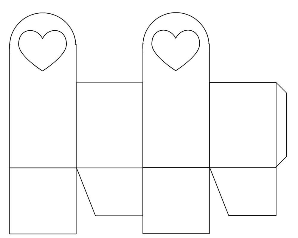 Heart Bag Template - free to use | Templates | Pinterest | Template ...