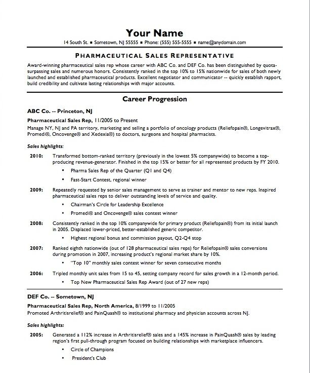 Sales Description Resume  Template