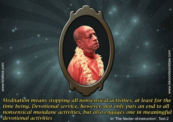 Devotional Service  For full quote go to: http://quotes.iskcondesiretree.com/srila-prabhupada-on-devotional-service-3/  Subscribe to Hare Krishna Quotes: http://harekrishnaquotes.com/subscribe/  #DevotionalService, #Meditation