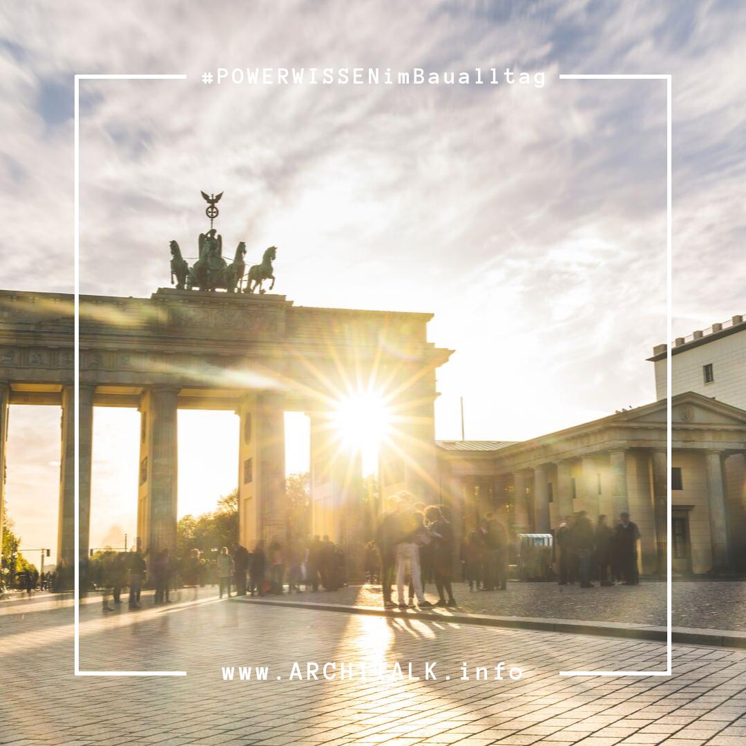 Das Brandenburger Tor In Berlin Gehort Zu Den Wichtigsten Wahrzeichen Der Metropole Das Einzige Erhaltene Stadttor Berlins Da Hochbau Bauwirtschaft Architekt
