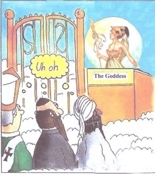 Which religious leaders would get past the Gates of Heaven if the ...