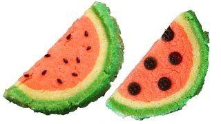 watermelon slice and bake cookies