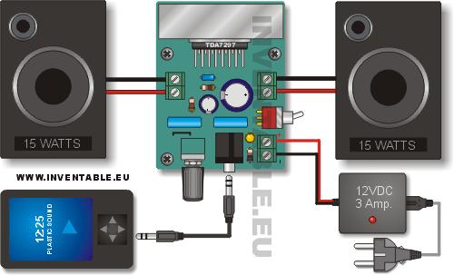 amplificador ultracompacto de 15w 15w raspberry pi. Black Bedroom Furniture Sets. Home Design Ideas