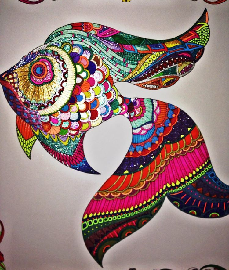 Im Lovin It Lostocean Adultcoloringbook Johannabasford Fishy