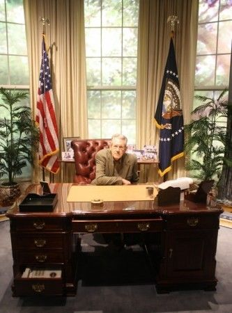 I finally make it to the Oval Office, just like Dana Andrews, the subject of my biography. This was taken at the George Bush Presidential Library in College Station, TX, where I was giving a talk.