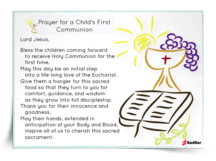 Image result for prayer for first communion candidates