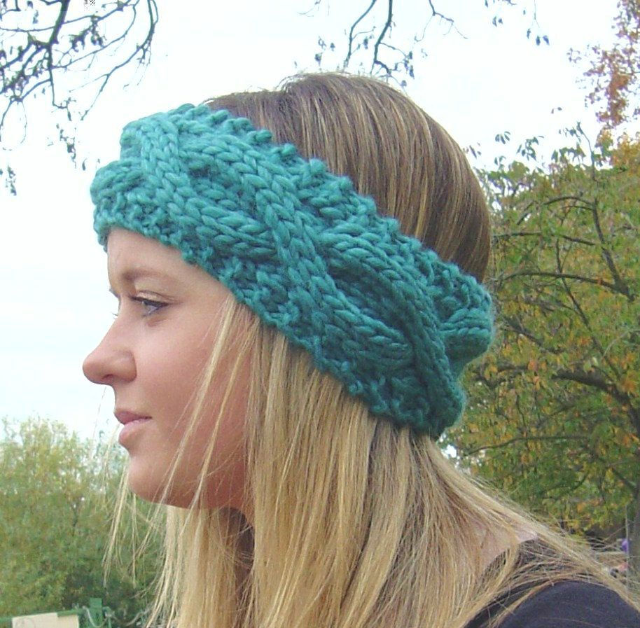 Knitting pattern cable headband ear warmer easy beginner knit knitting pattern cable headband ear warmer easy beginner knit headband instant delivery digital file pdf bankloansurffo Image collections