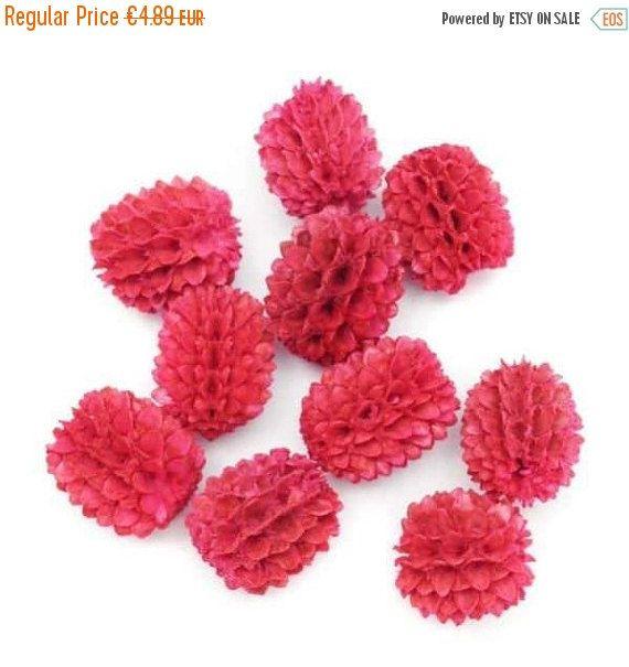 Agohablüten, pink, 12mm, 10 Stück, Samenperlen, Pe