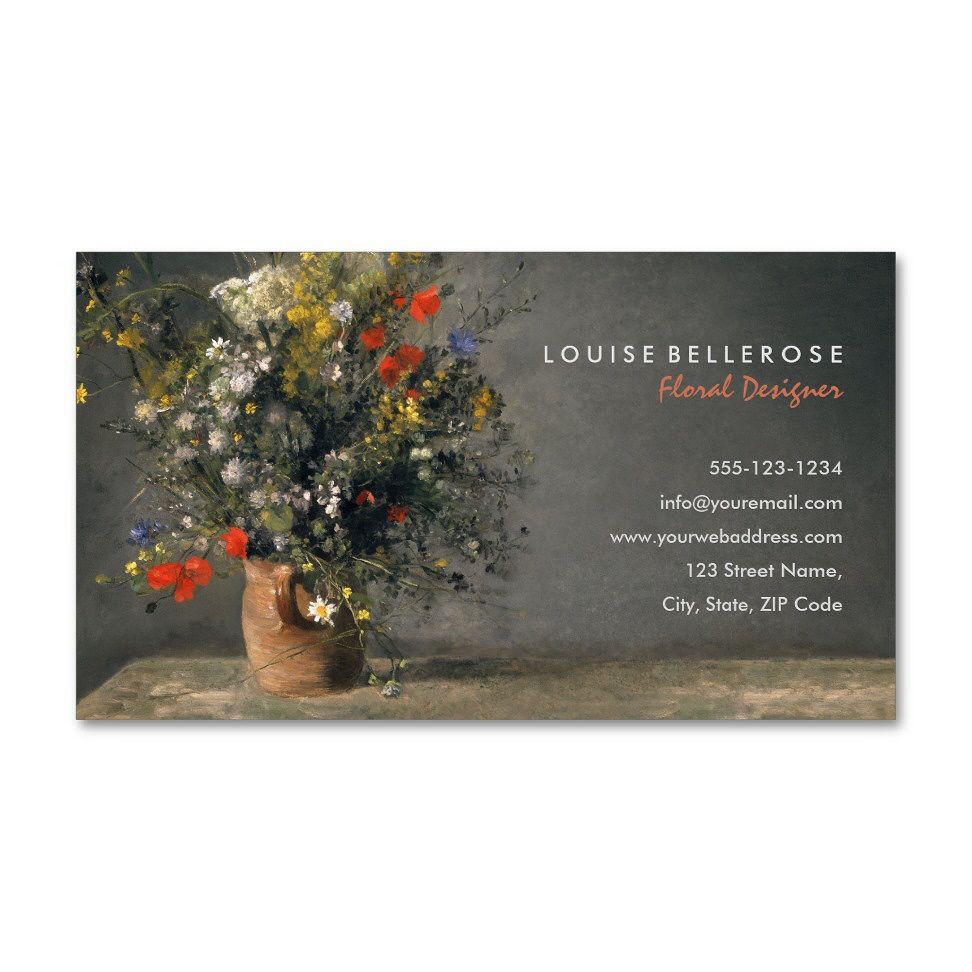 Florist Wedding Flower Arrangements Business Cards Flower Background Design Wedding Flower Arrangements Floral Business Cards