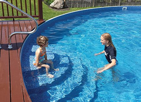 Walk In Steps Outdoor Pool Ideas Pinterest Ground