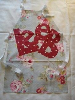 Betty Blues name aprons, are custom made in a range of fabric designs with your chosen name or nick name. These can be made in a mens butcher style, ladies butchers style and in junior and toddler sizes. For more info find me on Facebook.