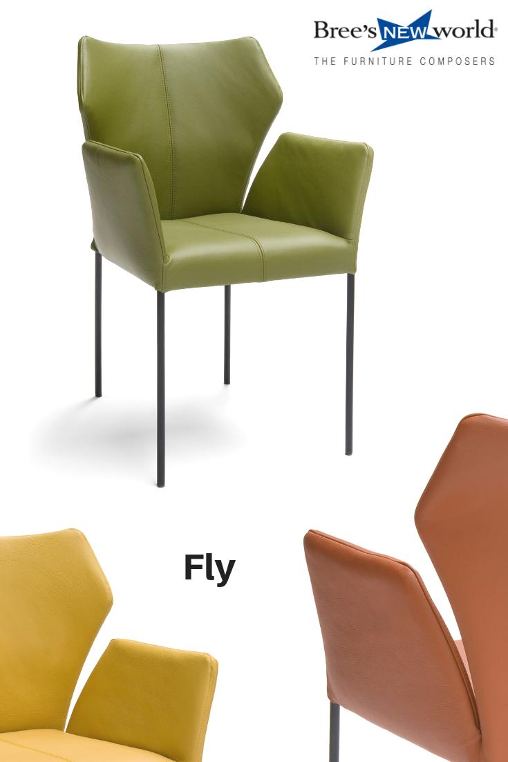 Design Eetkamer Stoelen Leer.De Niet Alledaagse Design Eetkamerstoel Fly Met Armleuning