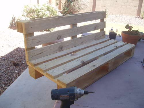 pallet bench project b nke g rten und balkon. Black Bedroom Furniture Sets. Home Design Ideas