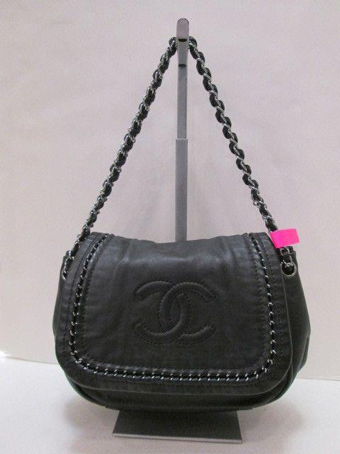 22e7ab1ed032 Keeks Buy Sell Designer Handbags - Chanel Black Luxe Ligne Flap Bag,  $1,599.99 (http