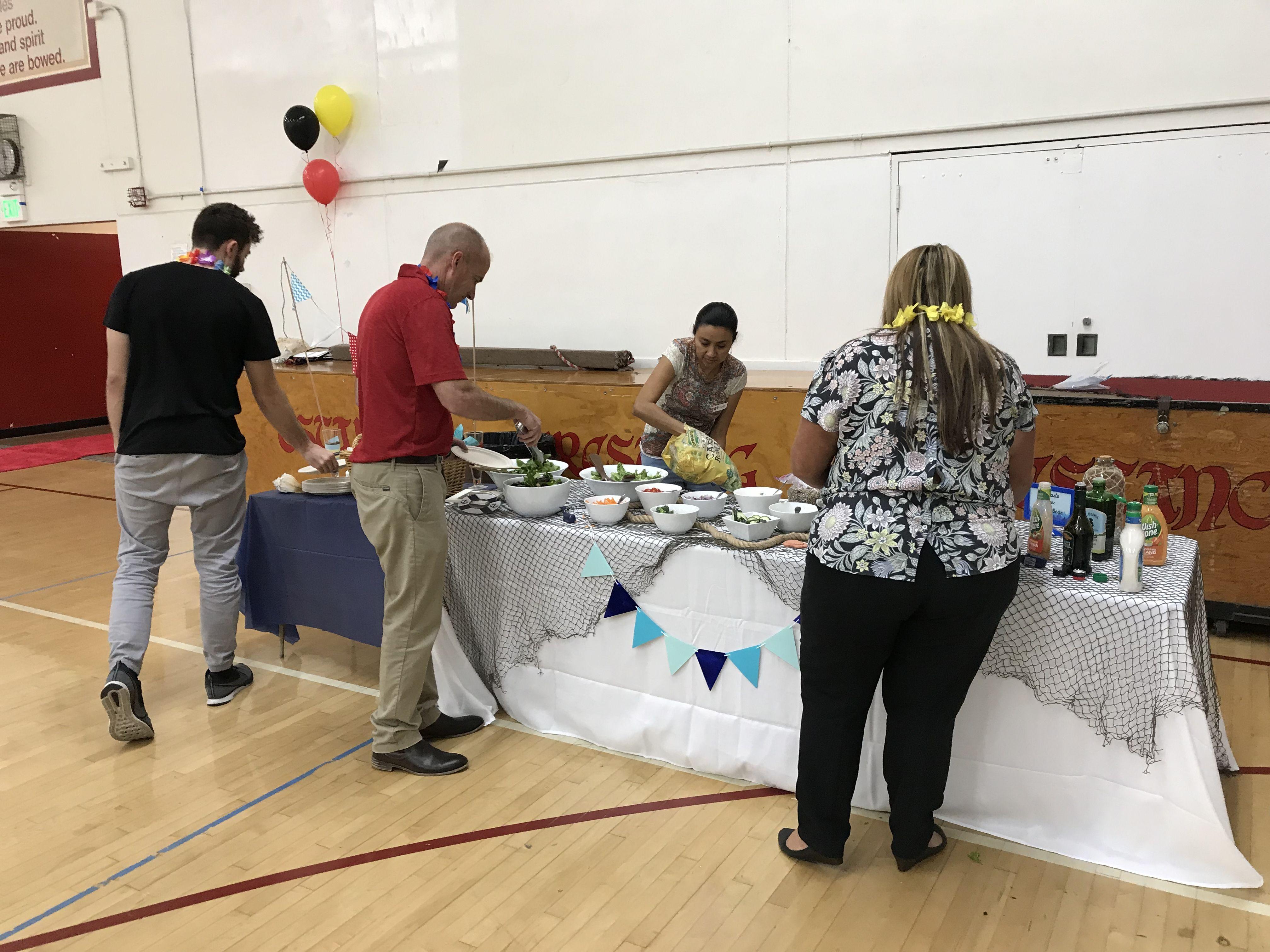 Cruise theme party teacher appreciation luncheon