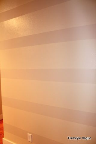 How I painted Tone On Tone stripes on my wall.