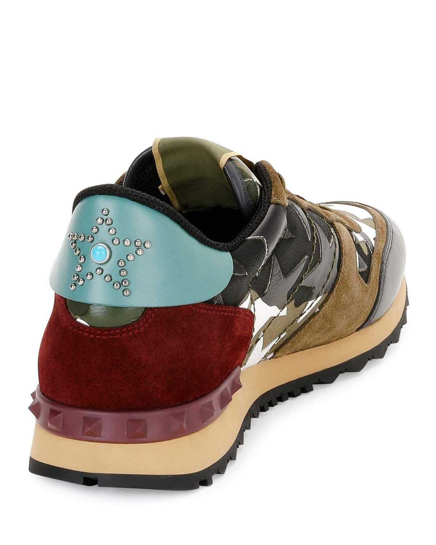 fb122a7c5cd316 Valentino Mens Rockrunner Camustars Trainer Sneaker