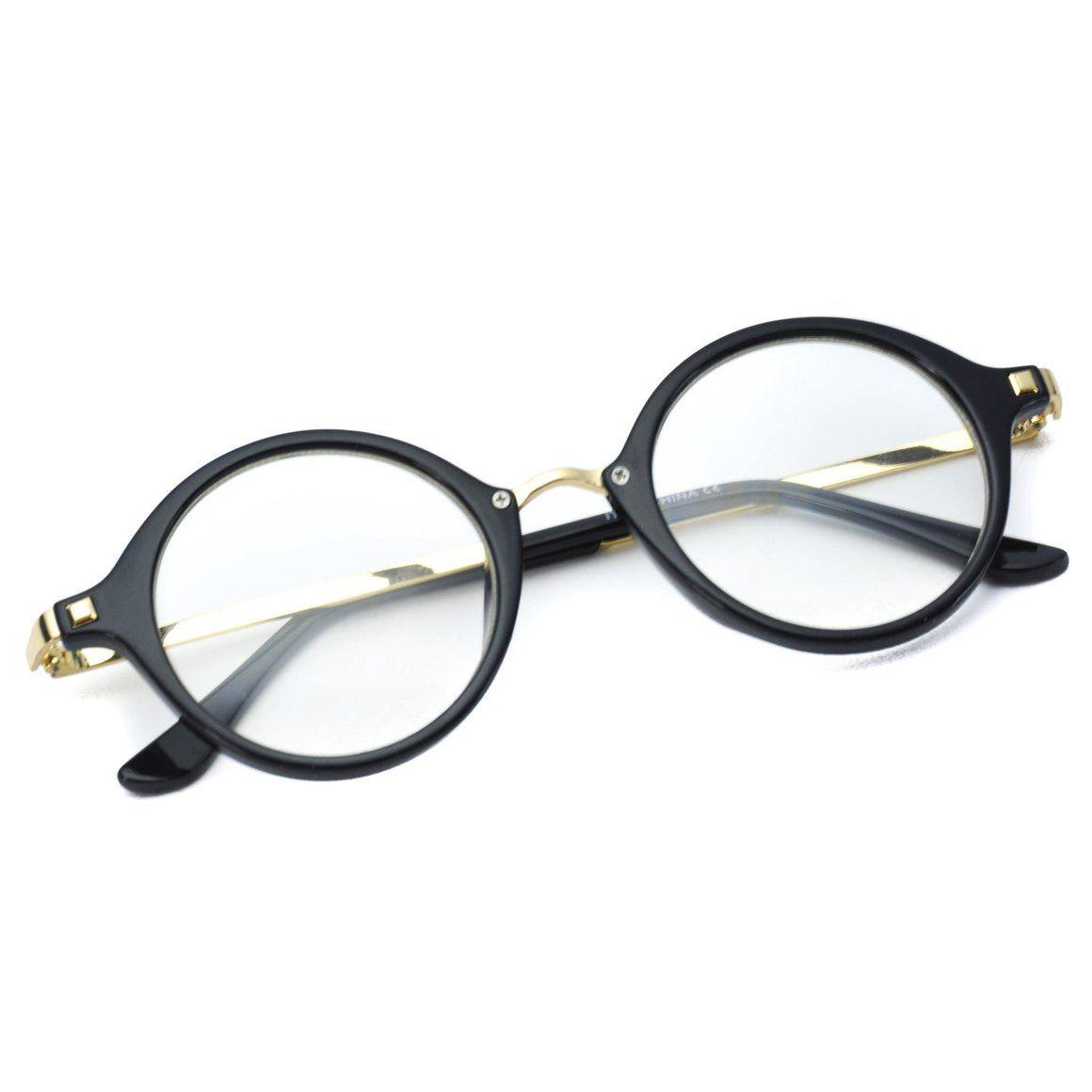 415307db044 Benton Small Round Stud Matte Glossy Clear Glasses - WearMe Pro