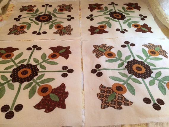 Heirloom Quality Hand Appliqued Whig Rose by MountainBottomQuilts