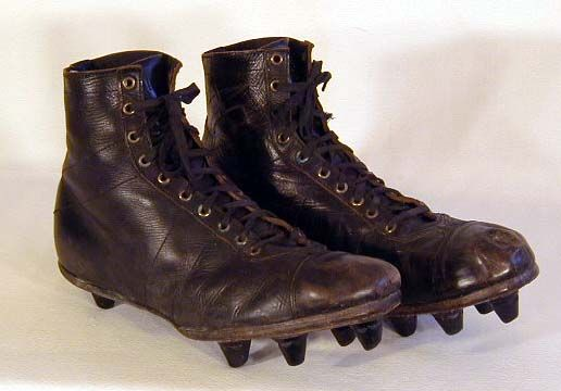 84be372b0be0d Talk about some old school Cleats. Good thing they were using Cleatskins,  or else these babies would be toast.