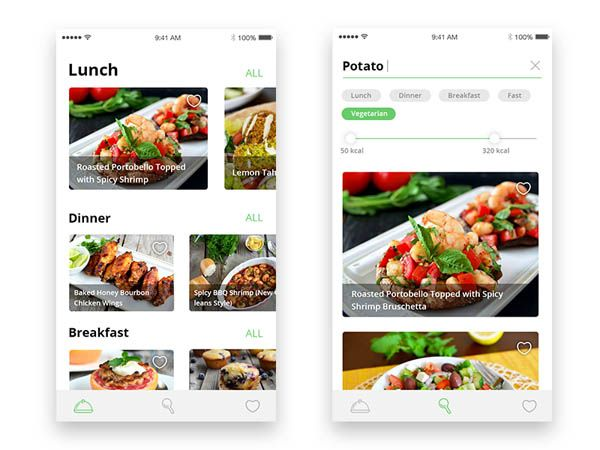 40 food app ui design to inspire you mobile ux food yumlife mobile recipe application by ruzanna forumfinder Gallery