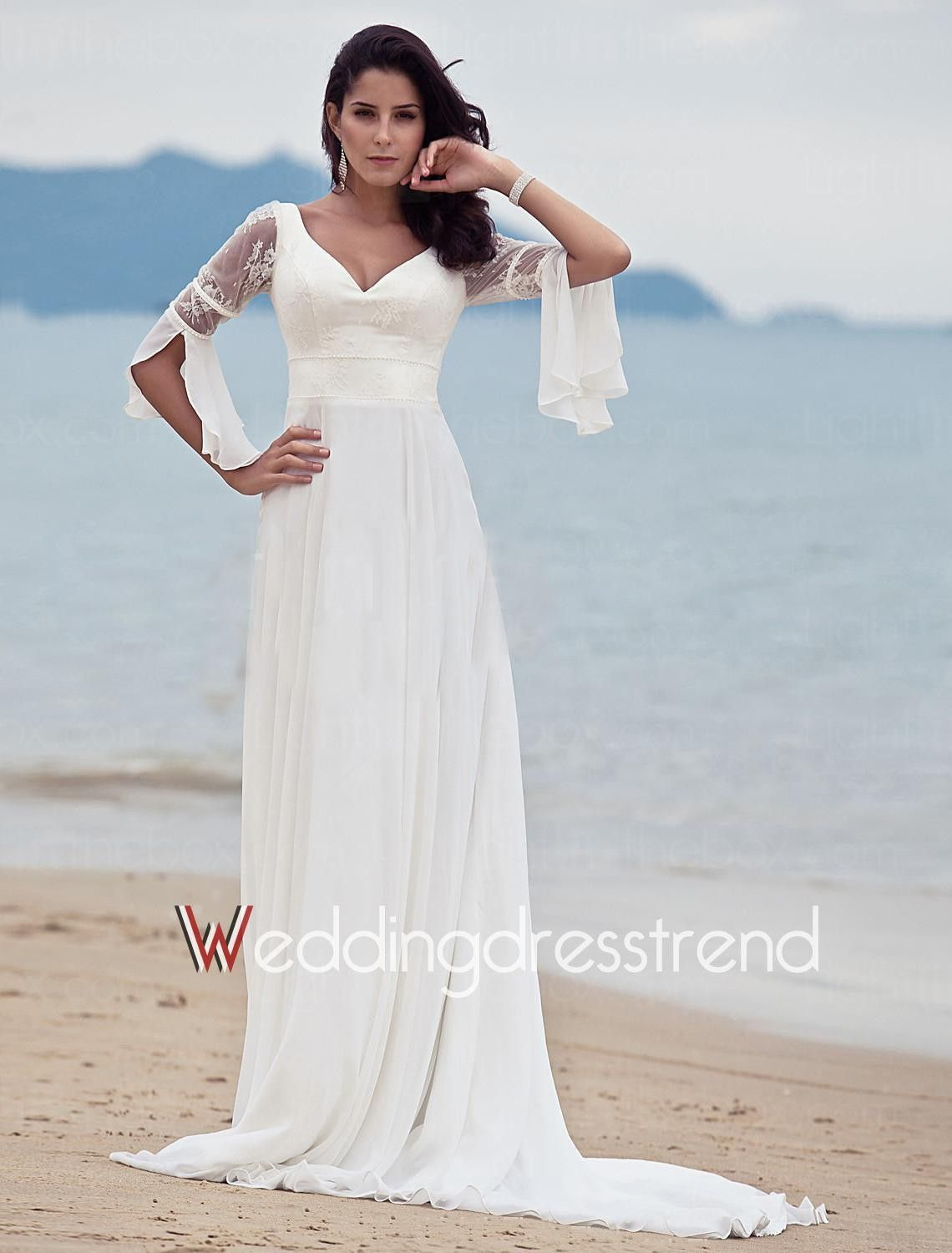 2018 Beach Wedding Dresses with Sleeves - Plus Size Dresses for ...