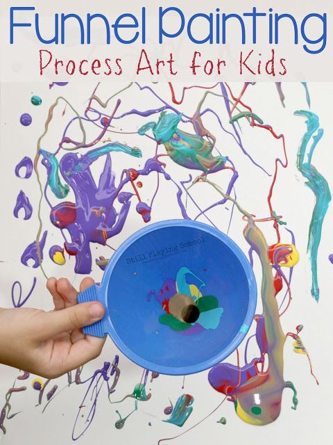funnel painting process art for kids all things kids pinterest