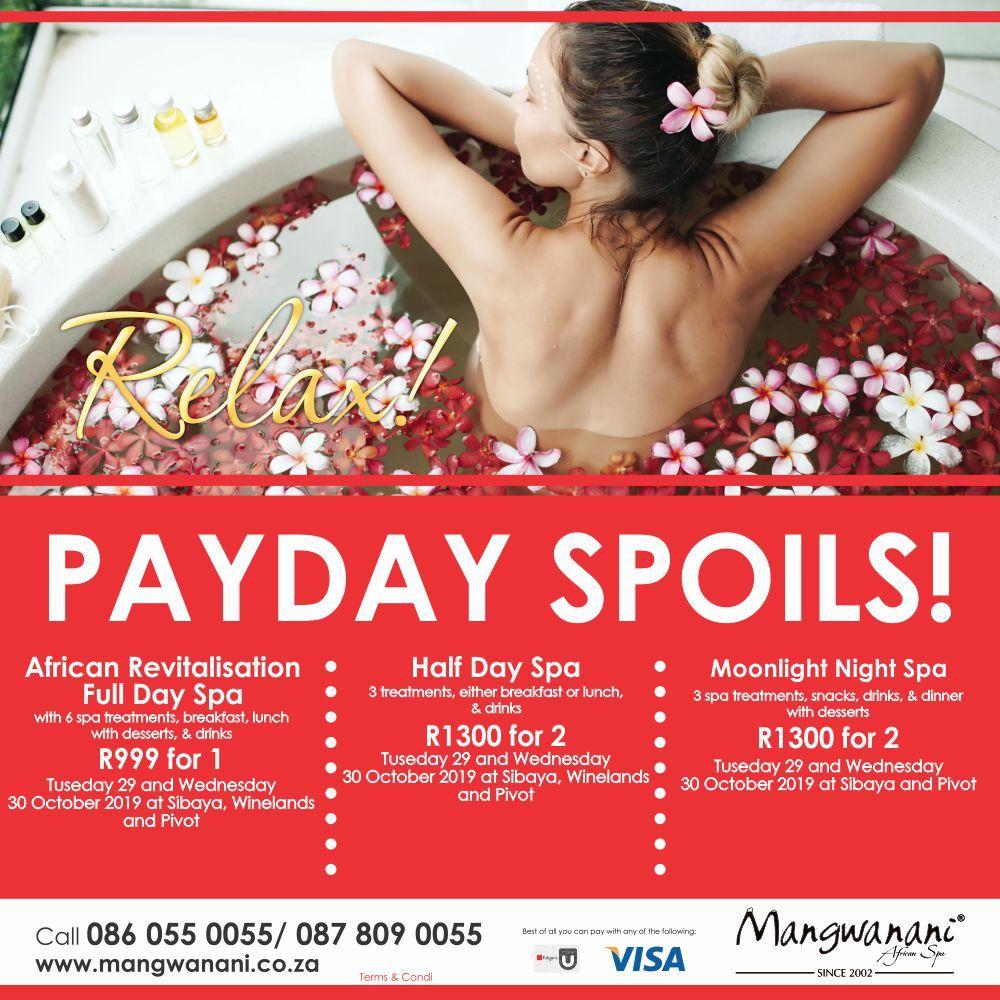Mangwanani Midweek Deals Spa Day Spa Breaks Spa Treatments