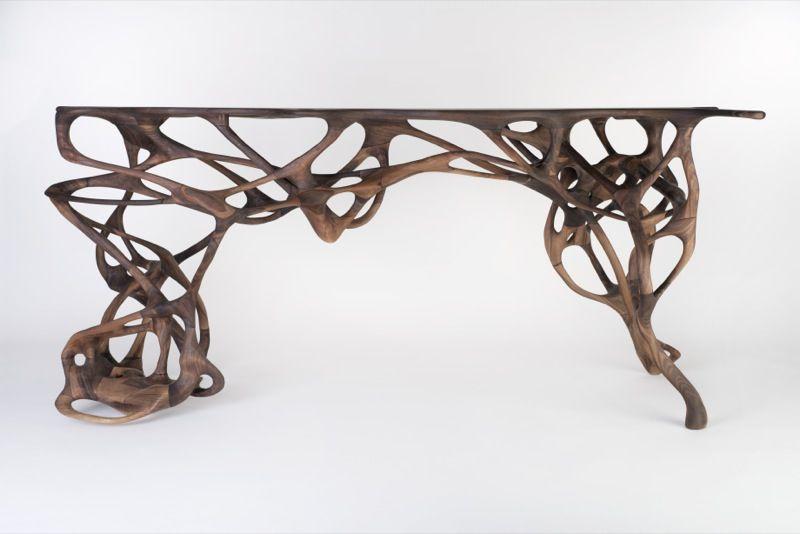 Growth Table Mathias Bengtsson 2014 Noyer Massif Maria Wettergren France Design Mobilier De Salon Decoration Interieure