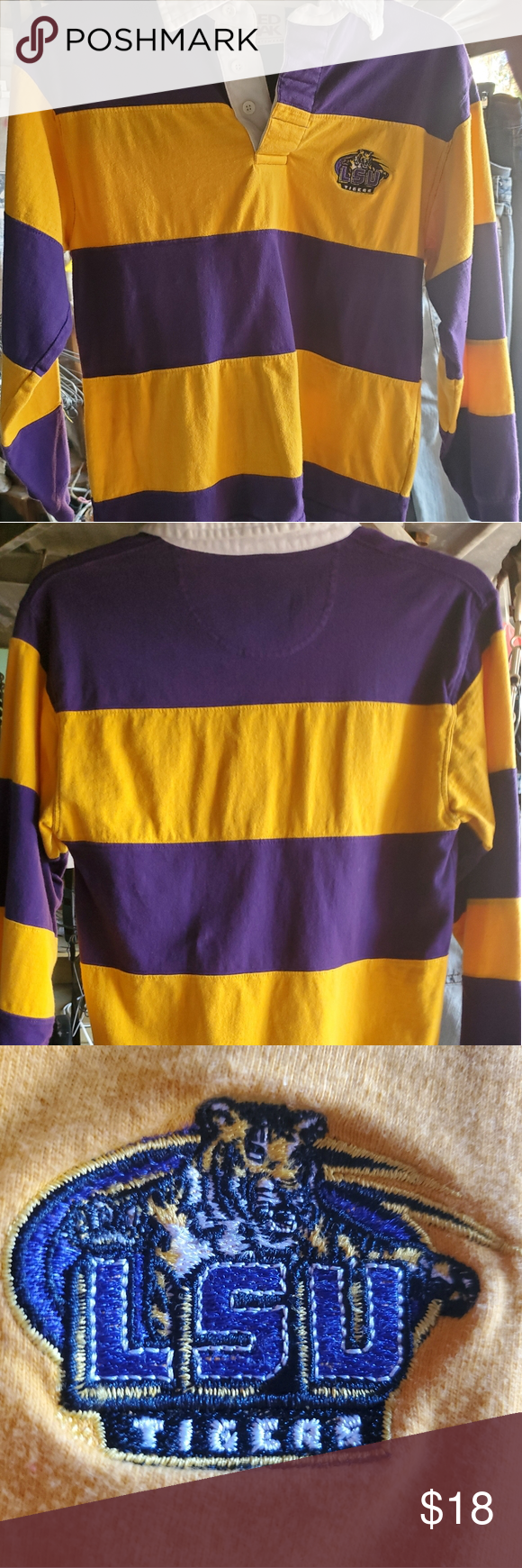 Childrens New Lsu Rugby Shirt Size