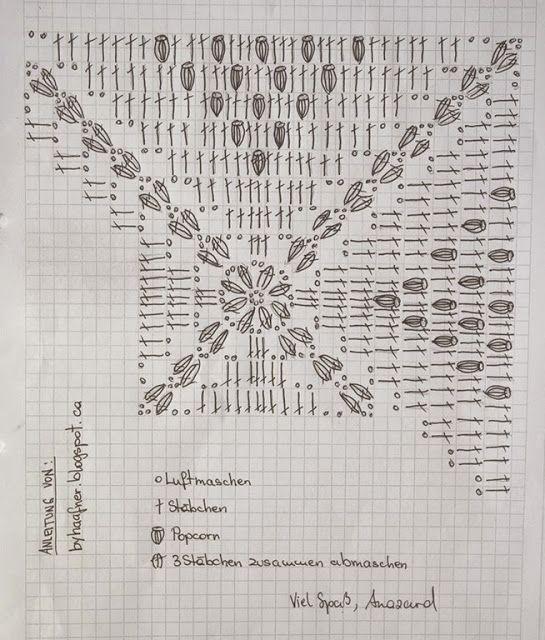 Tutorial Crochet Schema Per Coperta Alluncinetto Coperta
