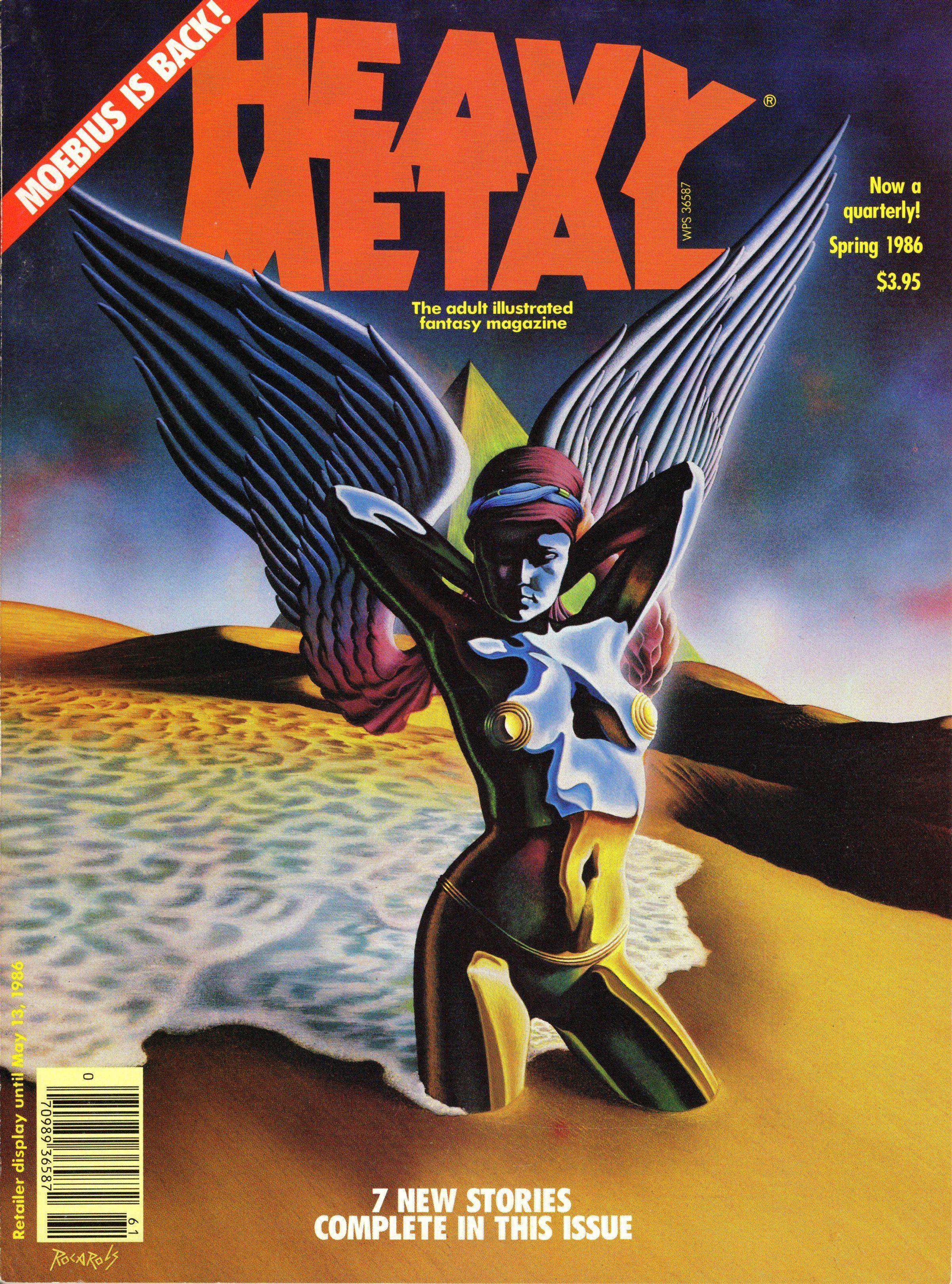 107 Rocarols, Heavy Metal 86-Spring  | SF/F magazine covers