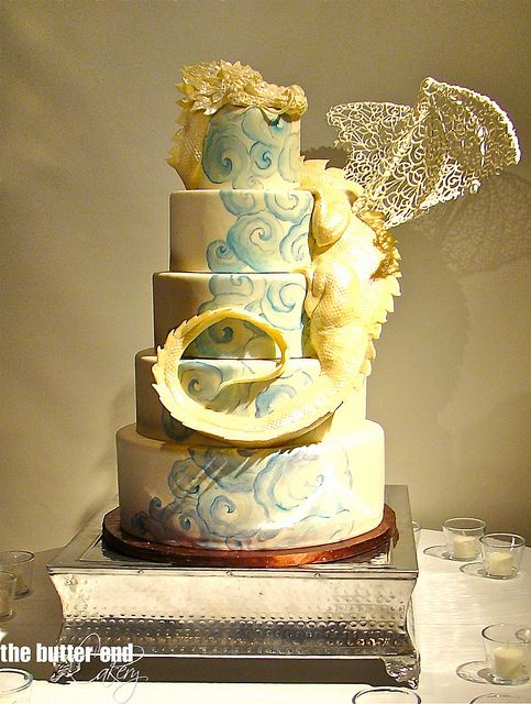The Butter End Cakery.Wedding Cakes.025   Dragon Cakes   Pinterest ...
