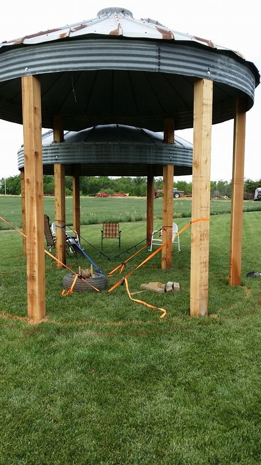 Our Grain Bin Gazebo's almost done, still need to pour ...