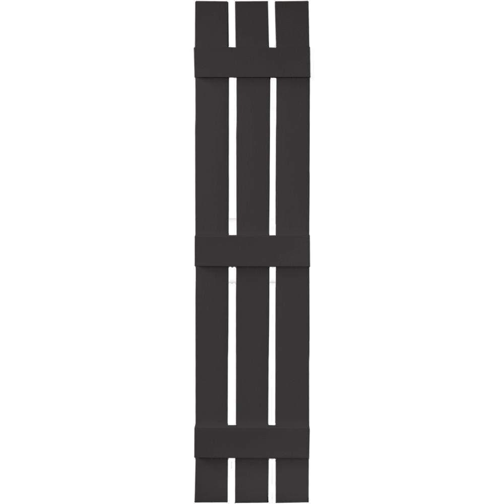 Builders Edge 12 In X 59 In Board N Batten Shutters Pair 3 Boards Spaced 002 Black Board Batten Shutters Shutters Vinyl Shutters