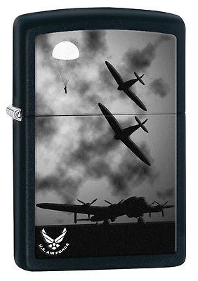 Zippo-U-S-United-States-Air-Force-Airplanes-Black-Matte-28510-NEW
