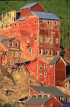 historic Kennecott Mine in McCarthy in Wrangell St Elias National Park, Alaska